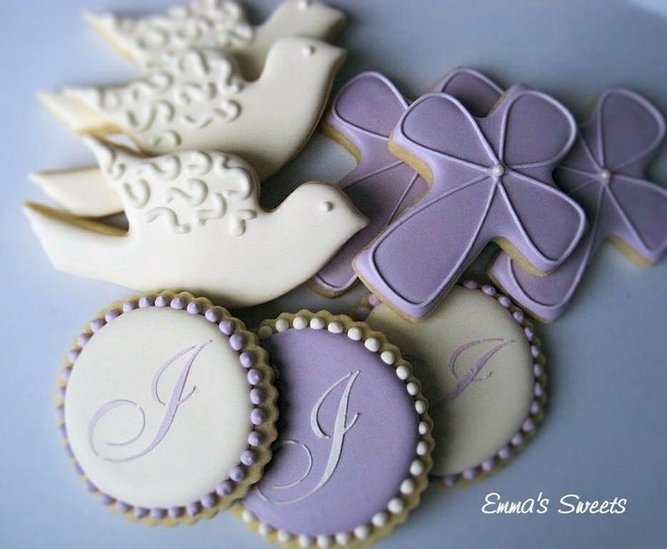 Religious Cookies | Religious themed cookies: Baptism, Cookies, Communion Ideas, Decorated ...