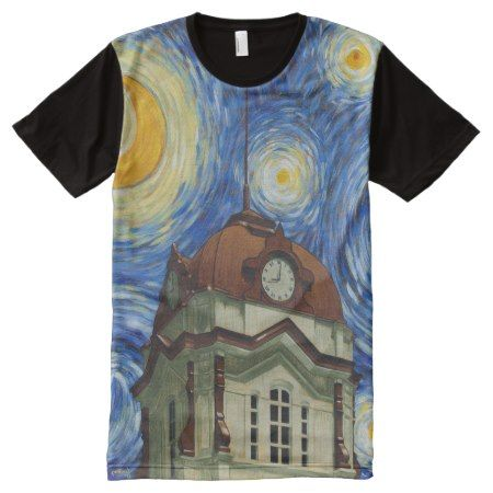 White County Courthouse Van Gogh All Over Shirt - tap to personalize and get yours