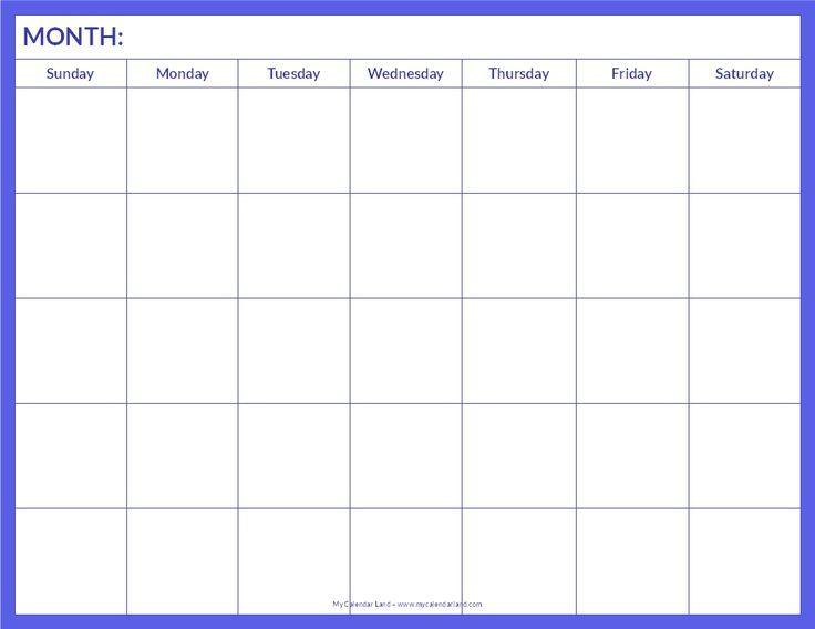 The 25+ best Free blank calendar ideas on Pinterest Blank - workout calendar template