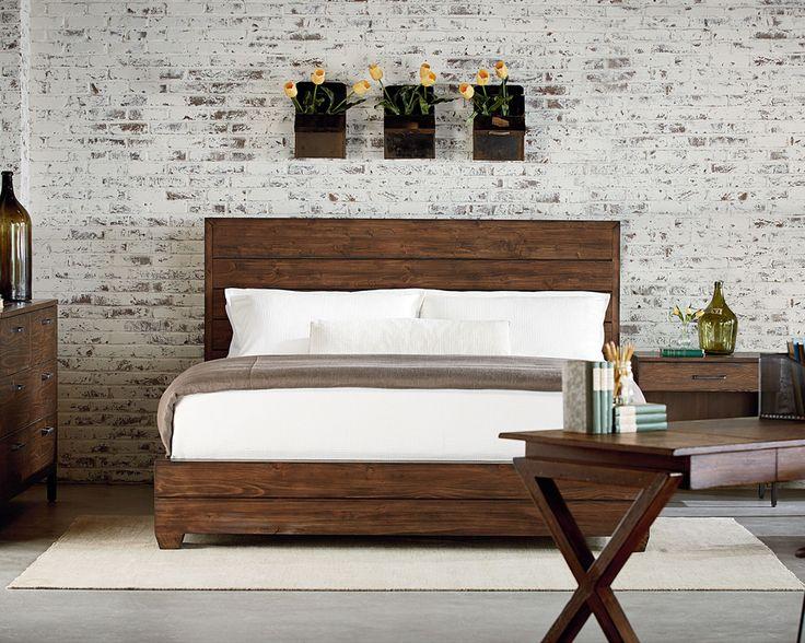 248 best loft master bedroom images on pinterest bedroom for Industrial bedroom furniture
