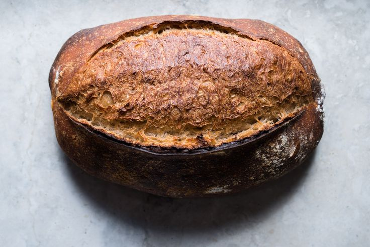 My latest spelt sourdough -- incredible crust, rise and flavor!