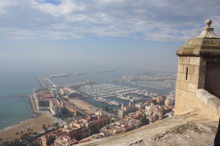 Alicante from the top of Santa Barbara Castle