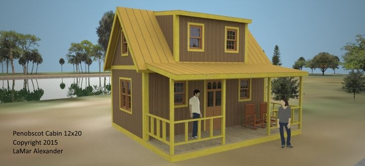Penobscot cabin 12x20 by lamar alexander home simple for Basic tiny house plans