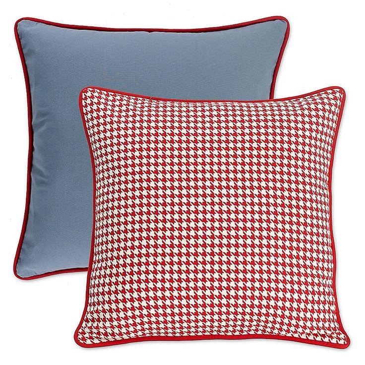 Hiend Accents St Clair European Pillow Sham In Blue Red