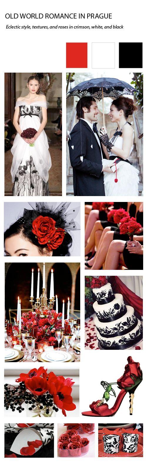 Red and Black Prague Wedding
