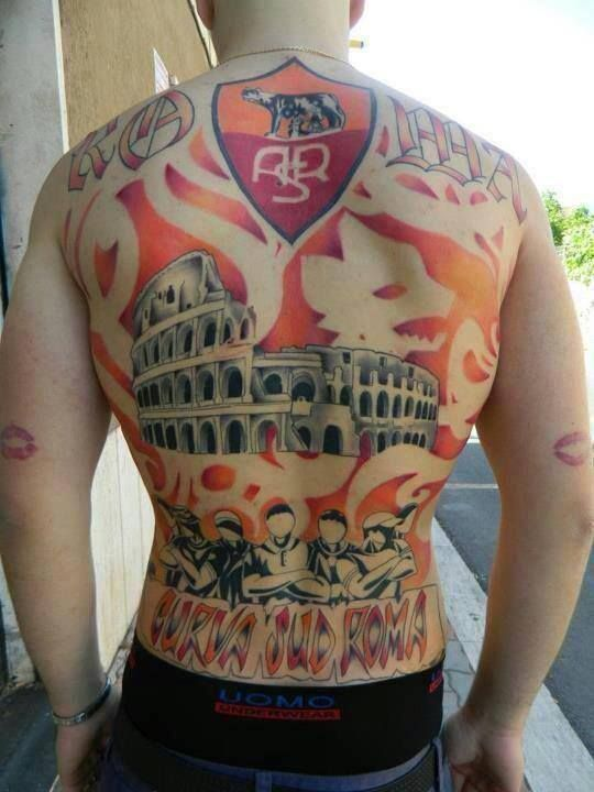 Incredible tattoo from AS Roma fan