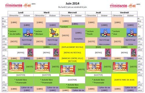Un calendrier pour s'organiser