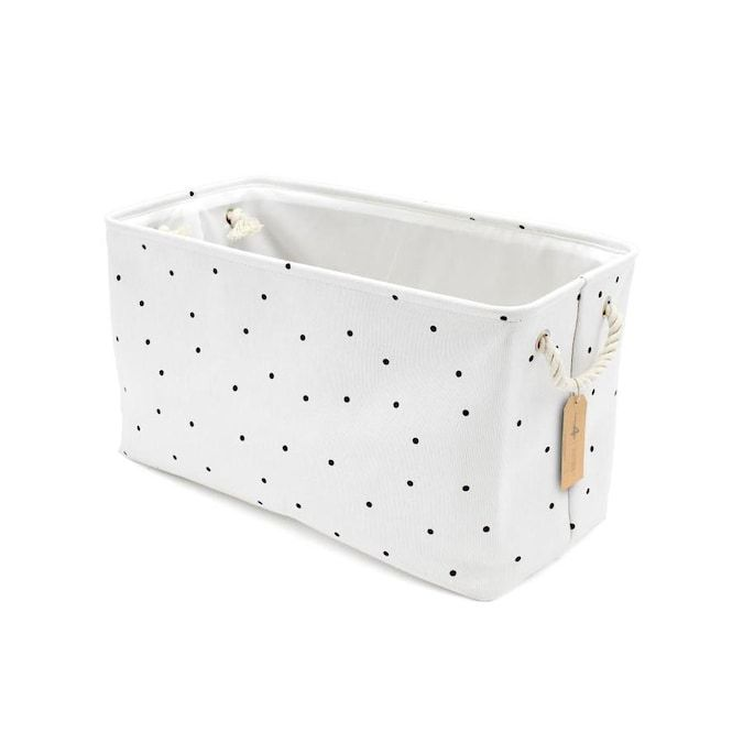 Handcrafted 4 Home 22 In W X 13 In H X 11 In D White Fabric Bin Lowes Com In 2020 Canvas Storage Fabric Bins Storage Bin