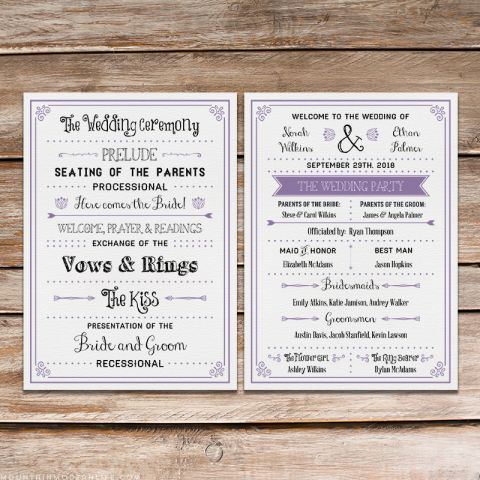 Best  Wedding Program Template Word Ideas On
