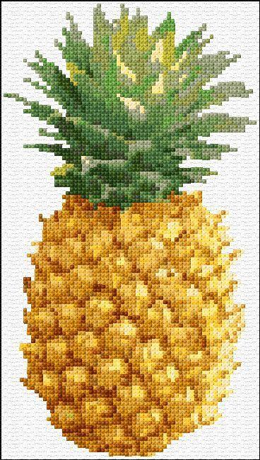 Cross Stitch | Pineapple xstitch Chart | Design