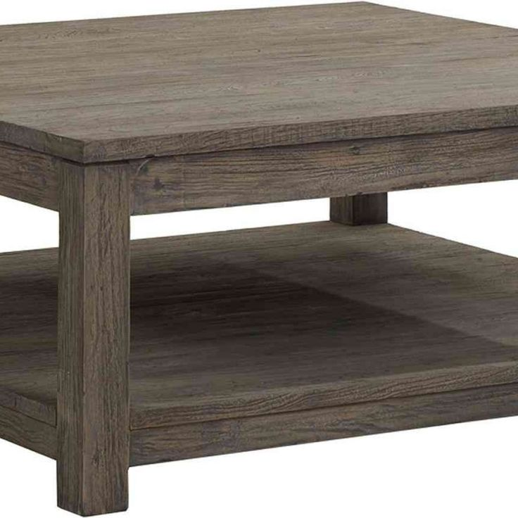 Large Wood Coffee Table Square