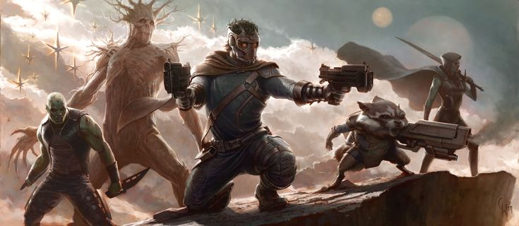 Concept Art Reveals Marvel's Plans for Guardians of the Galaxy - hehehe Rocket Raccoon.