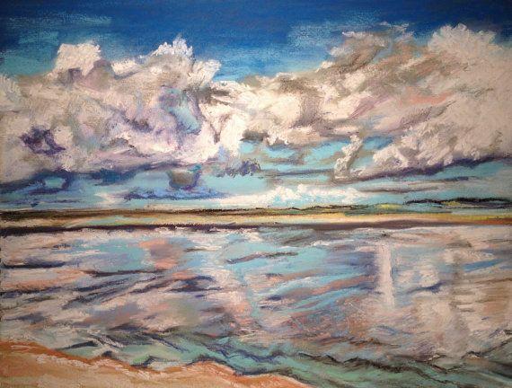 Uist Beach in Autumn I Hebrides Fine Pastel Art by FinePastelKB