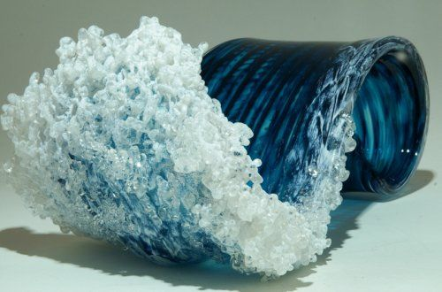 Морские волны в скульптурах Марши Блейкер и Пола ДеСоммы (15 фото)
