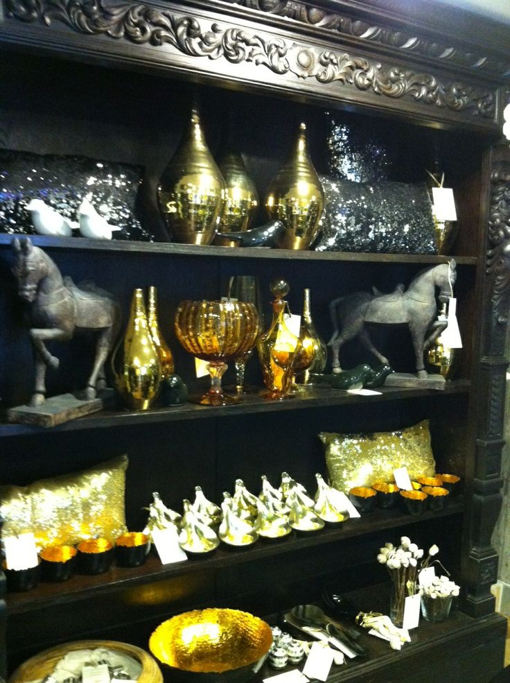 All things shiny.... these unusual accessories have been very popular to add some glamour.
