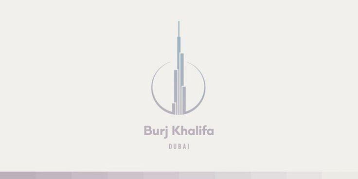 Creative Minimal Logos For Design Inspiration - Burj Khalifa