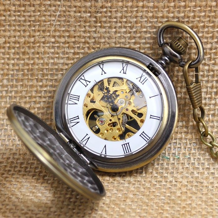 Урожай ретро роман количество двойной Diaplay автоматическая механическая рука ветер карманные часы с большой цепи карманные для женщин ледикупить в магазине Guangzhou Bingo Trading Co., Ltd. наAliExpress
