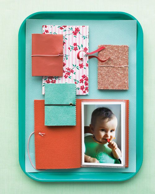 Cherish your child's first moments over and over again with our easy baby keepsake ideas. Using double-sided plastic binder sheets, you can create an easy-to-stash brag book. Fill with snap shots, handwritten recipes, and photo flip books.