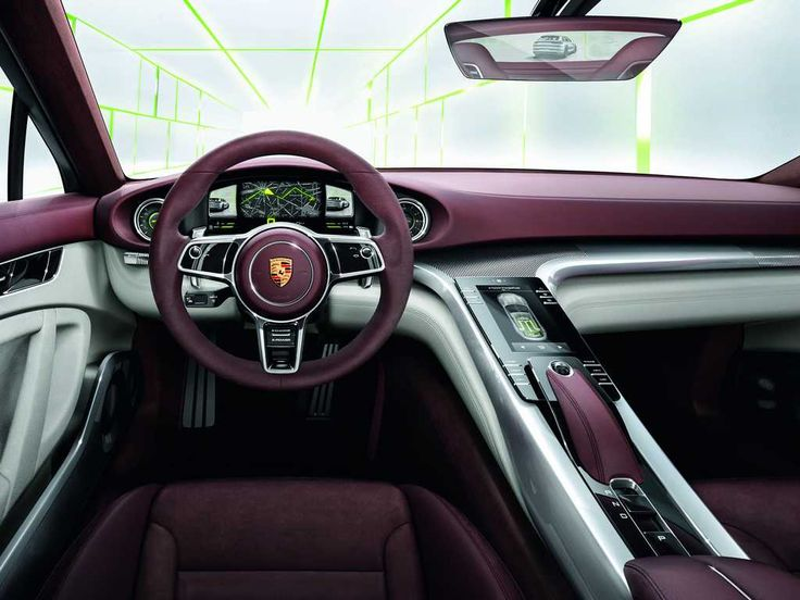 porsche panamera sport turismo interni glossy black interior purple steering wheel white. Black Bedroom Furniture Sets. Home Design Ideas