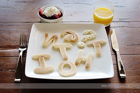 Pancake Word Scramble- such a cute and easy idea!