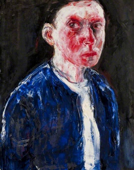 Blue Top  by Shani Rhys-James        Date painted: 1996      Oil on canvas, 76.2 x 60.4 cm      Collection: Glasgow Museums