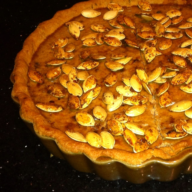 Pumpkin pie - looked a lot better than it tasted.