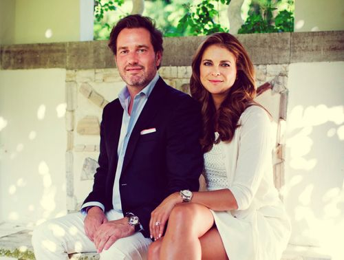 misshonoriaglossop:  Chris O'Neil and Princess Madeleine of Sweden-the couple expect their first child in March 2014