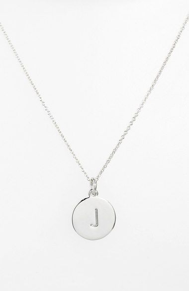 "Kate Spade ""One in a Million"" initial necklace in silver, letter ""J""- Nordstrom"