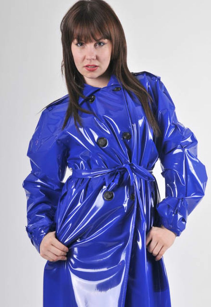 shiny blue plastic raincoat pvc4fun. Black Bedroom Furniture Sets. Home Design Ideas