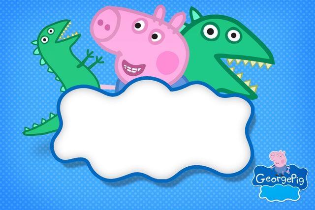 Kit digital completo para imprimir de graça e usar na festa com o Tema Peppa Pig para Meninos ou George Pig!