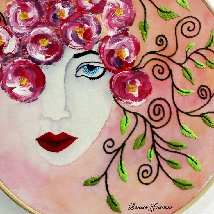 Sopro de Natureza Técnica Mista  #bordado #pintura #arte #embroideryart  #paintart  #art  #mixedmedia