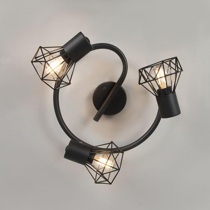 Spot Mosh 3 Zwart Verlichting Gloeilampen Lampen Plafond