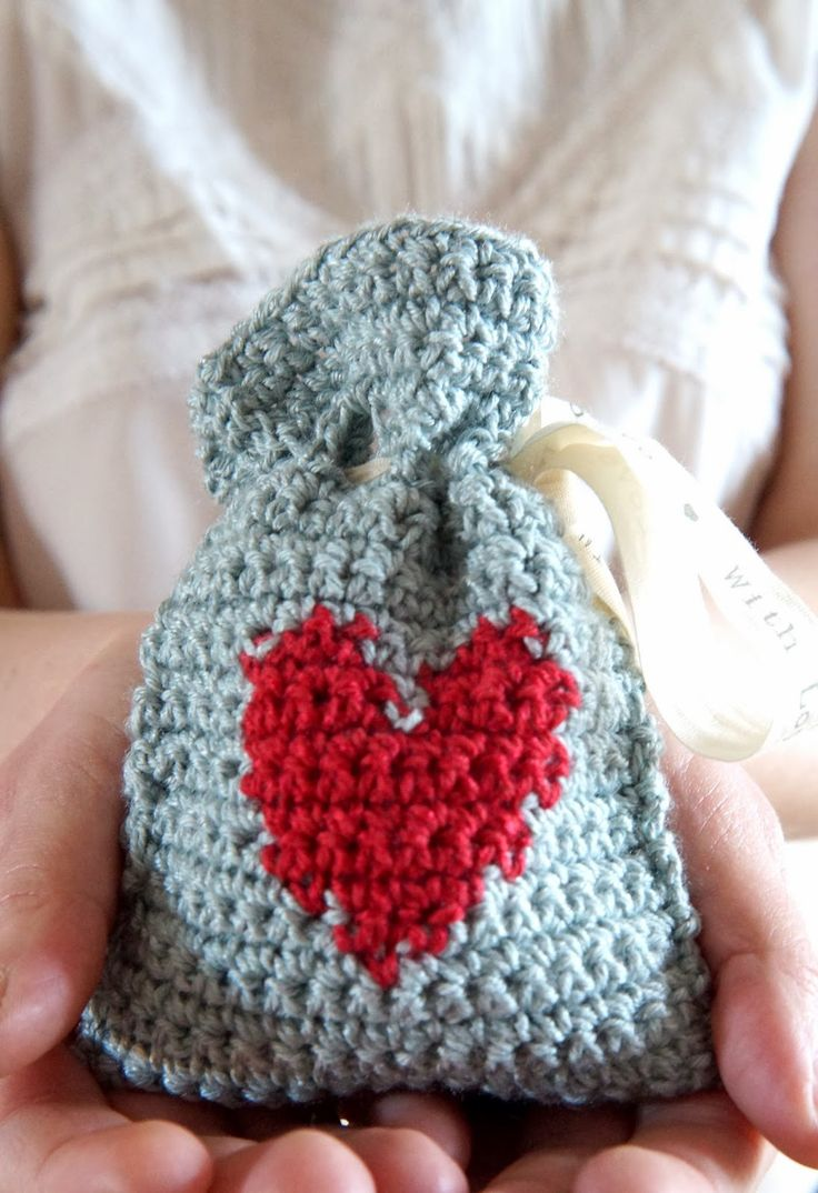 Crochet Valentines Day Gift Bag - Tutorial ❥ 4U // hf, thanks so for share xox