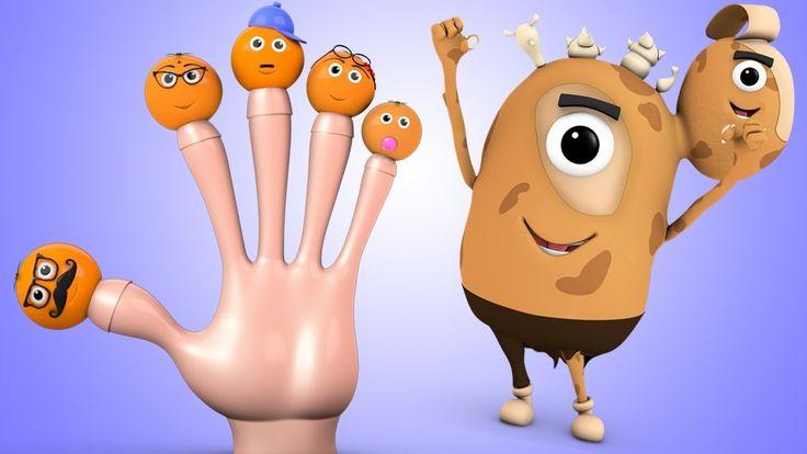 Orange Finger Family Rhyme - Murphy Little Spud Teach Nursery Rhymes for...