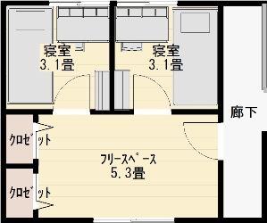 子供部屋の仕切り方(別案の最終形2)