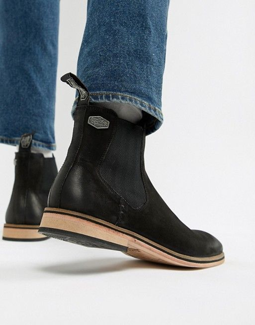 889c11f16db Superdry Meteora chelsea boots in black