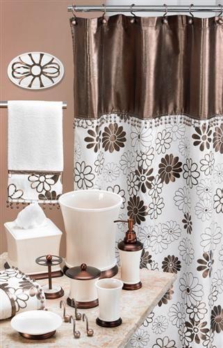 Phoenix Beige Amp Copper Shower Curtain Home Decor