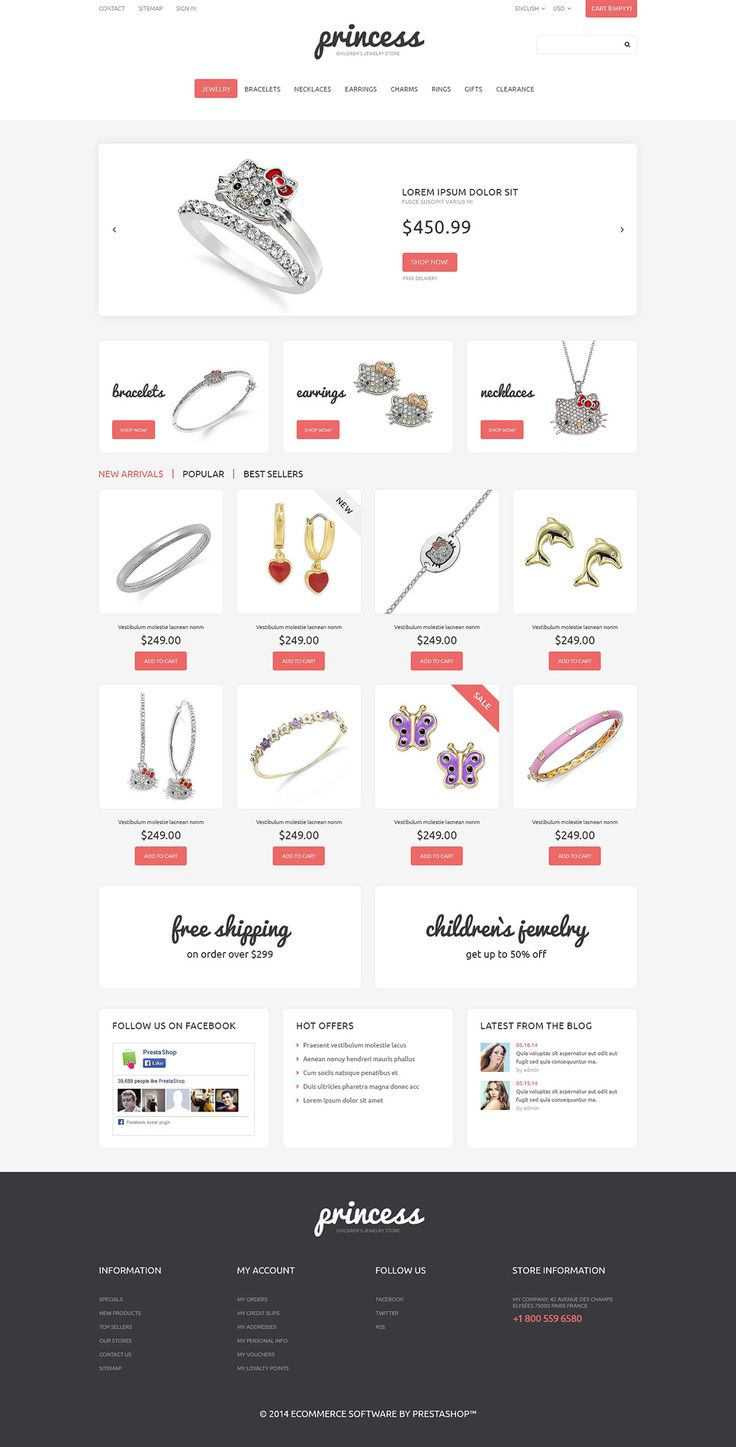 17+ Best Jewelry Store PrestaShop Themes - Childrens Jewelry