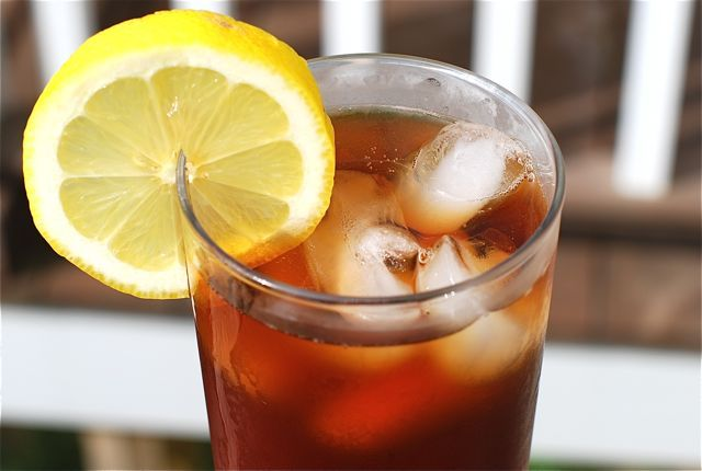 Plain, simple, refreshing iced tea. I am not clever enough to come up with something good here.  Sorry.