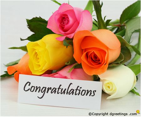 Beautiful congratulations card for your near and dear ones.