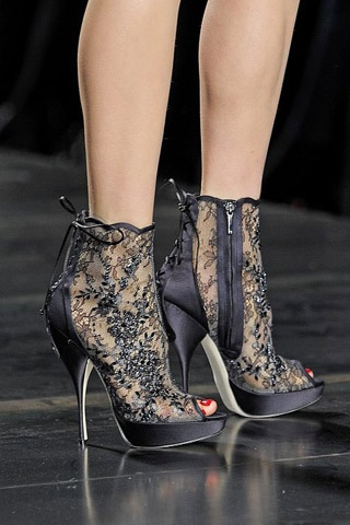 baroque dior lace ankle boots