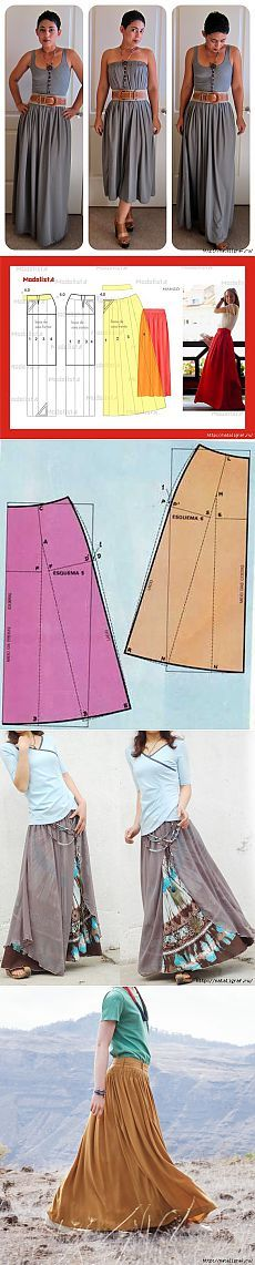 Long skirts + patterns and a couple of tips   Woman's World