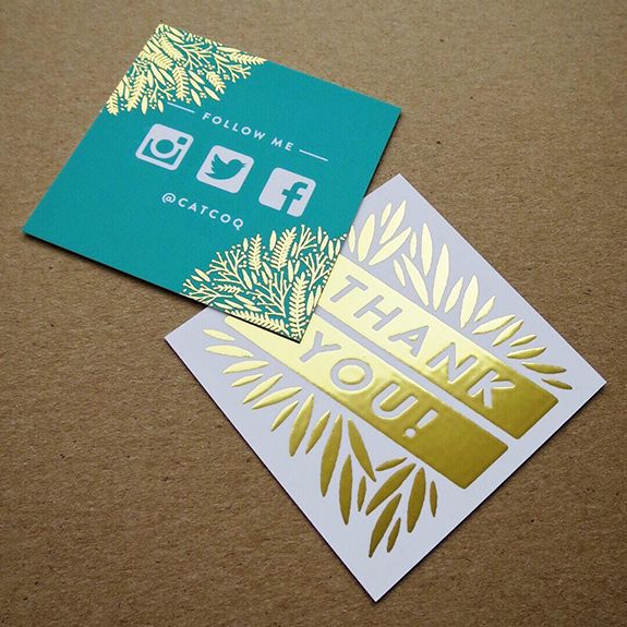 The MOO Blog | #MOOCARDS: You've Got the Golden (Foil) Touch | MOO (United States)