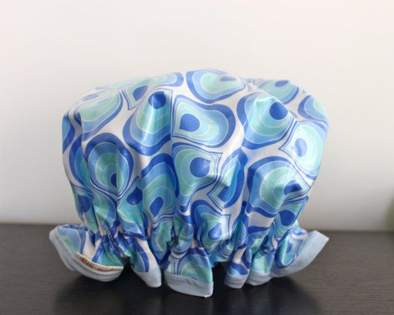 Handmade Shower Cap Laminated Cotton. BPA & PVC FREE. Made by PureHaven, $22.99