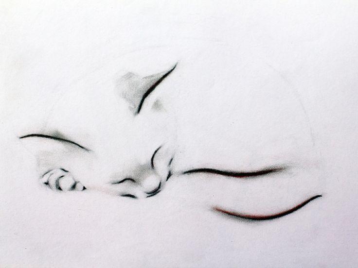 Sleeping Cat Print by Kellas Campbell | Artfinder