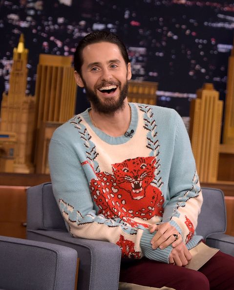 """the-beautiful-insomnia: """"Jared Leto at The Tonight Show Starring Jimmy Fallon - 01.08.2016 """""""
