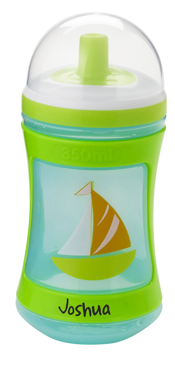 Tommee Tippee® discovera® Active Tipper 12m+ #sippycup #tommeetippeeau #discovera #cutecup #joshua #blue #toddler #boat #green #nautical