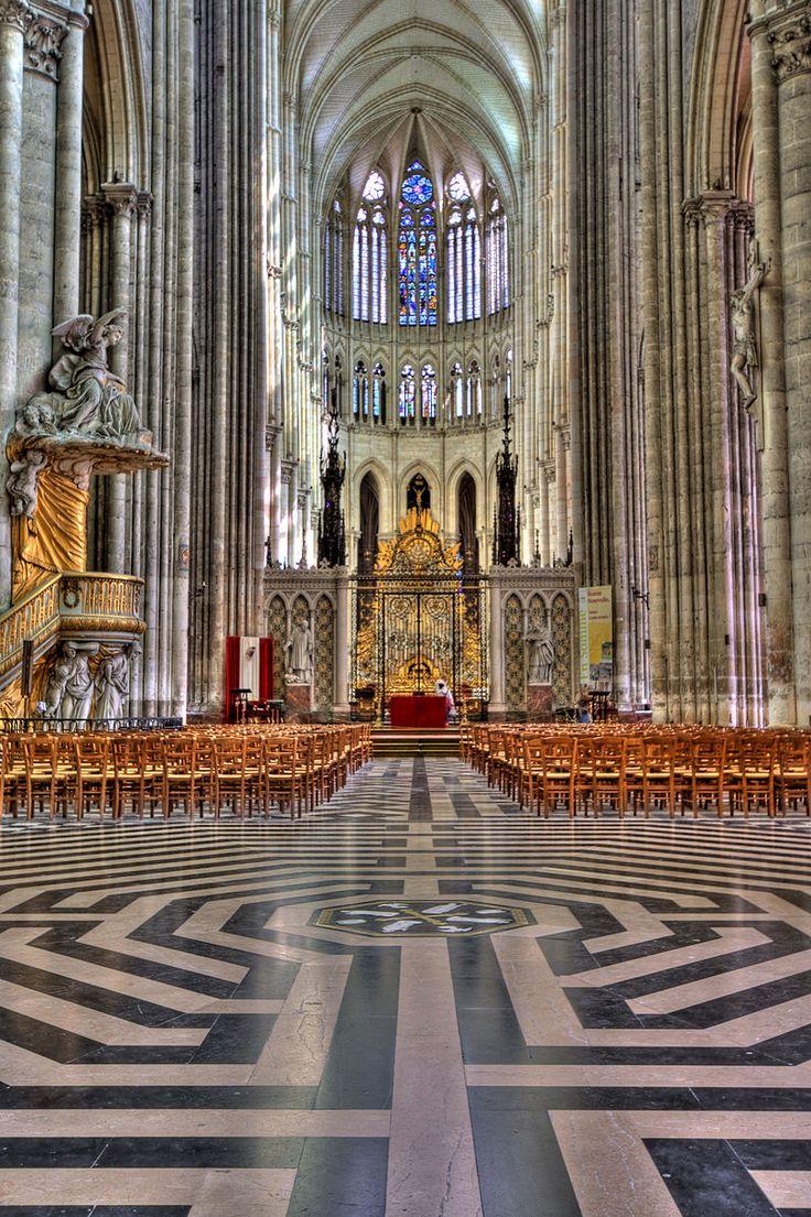 Labyrinthe de la cathédrale d'Amiens - Somme