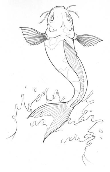Line Art Journal : Best images about next journal page on pinterest koi