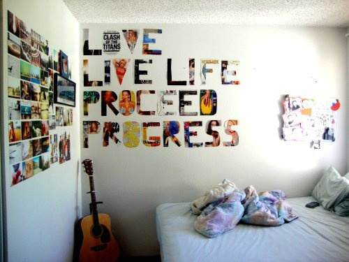 What if we do something like this on the wall where we had the mural last year? With different words, obviously.